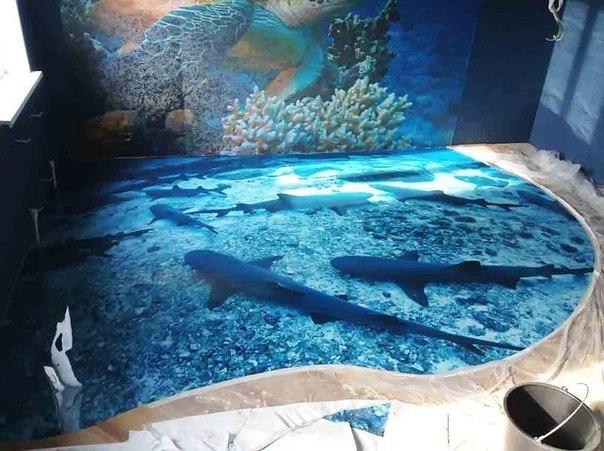 фото наливной 3d пол
